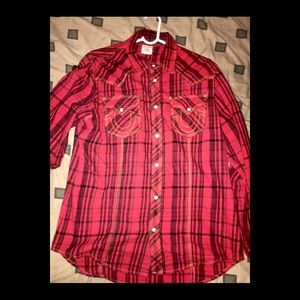 True Religion Long Sleeve Button Up